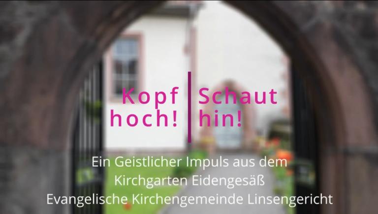 Kopf hoch! Schaut hin! – Geistlicher Impuls aus dem Kirchgarten Eidengesäß